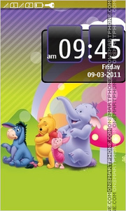 Pooh & Friends tema screenshot