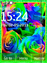 Multi-colored roses theme screenshot