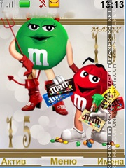 Funny M&M's theme screenshot