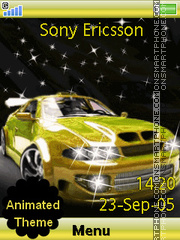 Yellow Skyline theme screenshot