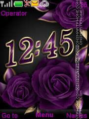 Violet Roses theme screenshot
