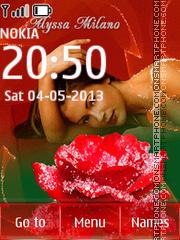 Alyssa Milano theme screenshot
