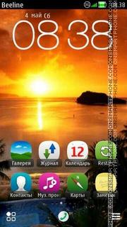 Sunset es el tema de pantalla