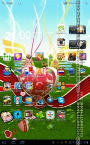 Valentine Hearts 05 theme screenshot