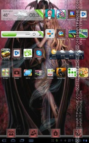 Bat Romance tema screenshot