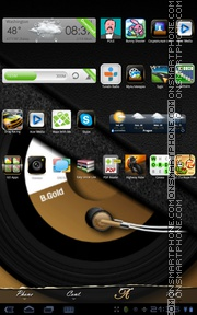 Gold Music tema screenshot