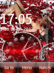 Girl in Roses theme screenshot