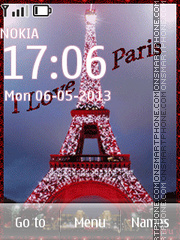 I love Paris theme screenshot
