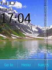 Mountain Lake tema screenshot