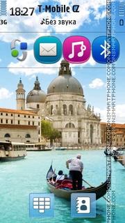Venice And Gondola theme screenshot