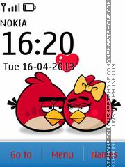Скриншот темы Angry Birds Love