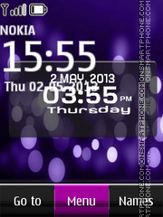 Xperia - Sony Glow Digital theme screenshot
