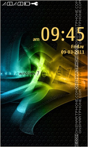 Abstract Windows 7 theme screenshot
