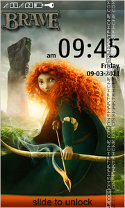 Brave Merida theme screenshot