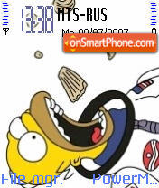 Homer Simpson 01 theme screenshot