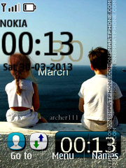 Near the sea tema screenshot