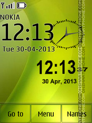 Green Neo Clock theme screenshot