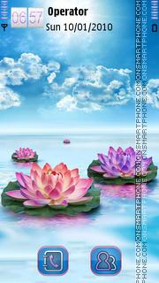 Water Lily tema screenshot