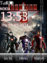 Iron Man 3 With Ringtone tema screenshot