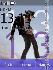 Michael Jackson Clock theme screenshot