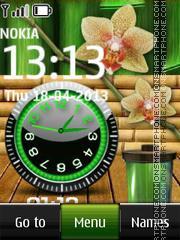 Скриншот темы Flower Battery Dual
