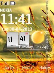Скриншот темы Htc Nature Swf Clock