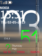 Live Clock 01 theme screenshot
