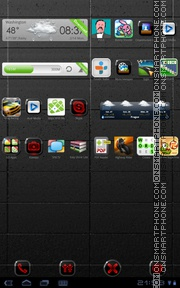 Neon Red 01 tema screenshot