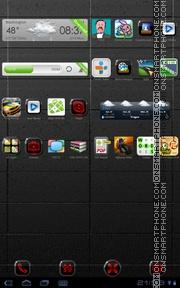 Скриншот темы Neon Red 01