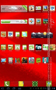 Red Fabric theme screenshot