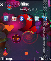 Abstract Purple 5802 theme screenshot