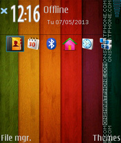 Wooden Nokia Lumia theme screenshot