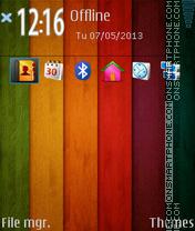 Capture d'écran Wooden Nokia Lumia thème