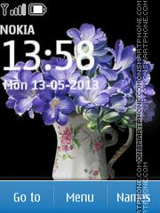 Blue Flowers theme screenshot