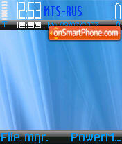 Blue Vista 01 theme screenshot