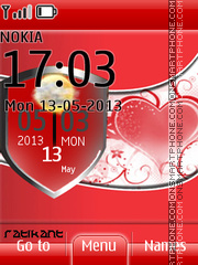 Heartbeat Clock theme screenshot