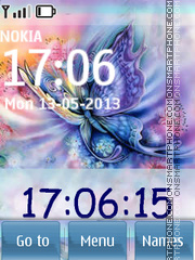 Violet Butterfly 01 theme screenshot