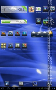 Elegant Blue tema screenshot