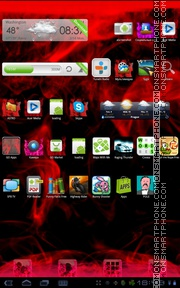 Red Fire Theme-Screenshot