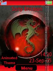 Capture d'écran Dragon thème