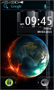 Fire Earth theme screenshot