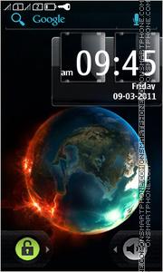 Скриншот темы Fire Earth