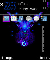 Capricorn Neon theme screenshot