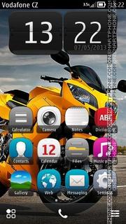 Yellow Bike 01 es el tema de pantalla