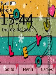 Love U 3d Icons theme screenshot