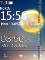 Solar Clock tema screenshot