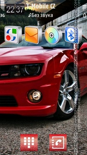 Red Muscle Car theme screenshot