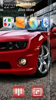 Скриншот темы Red Muscle Car