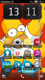 Homer And Bart theme screenshot