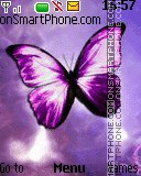 Purple Butterfly theme screenshot
